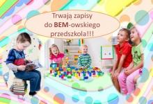 Uwaga: zapisy do bemowskiego przedszkola